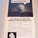 1967 Shakespeare Golf Balls Print Ad Dwight Pelkin Sheboygan Wisconsin