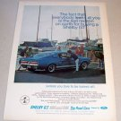 1967 Ford Shelby Cobra GT Automobile Color Print Car Ad