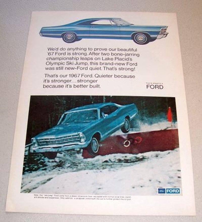 1967 Ford Galaxie 500 Automobile Color Print Car Ad