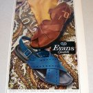 1967 Evans Sandals Color Print Ad