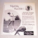 1967 Power Bilt Golf Clubs Print Ad LPGA Golfer Gloria Ehret