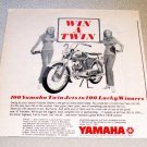 1967 Yamaha Twin Jet 100 Motorcycle Print Ad