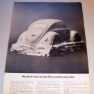 1969 VW Volkeswagen Clay Mold Automobile Print Car Ad