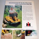 1969 IH International Cadet 60 Riding Mower Color Print Ad