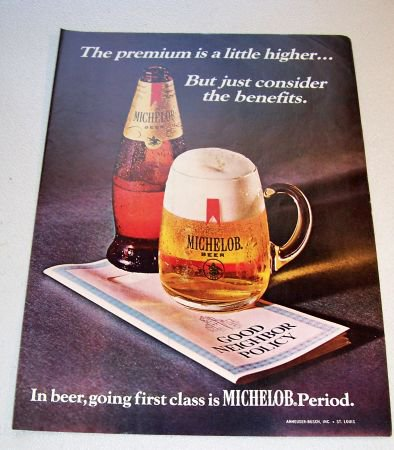 1969 Michelob Beer Color Print Brewery Ad Good Neighbor Policy