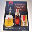1969 Michelob Beer Color Print Brewery Ad Runs in the Family