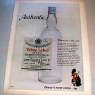 1969 Dewars White Label Scotch Color Print Liquor Ad