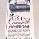 1969 AR Automatic Radio Tape Dek Convertible Stereo Print Ad Celtics John Havlicek
