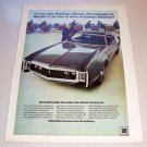 1969 Color Print Car Ad for 1970 Oldsmobile Toronado Automobile