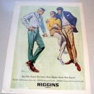 1969 Higgins Company Clothing Color Sketch Art Print Ad