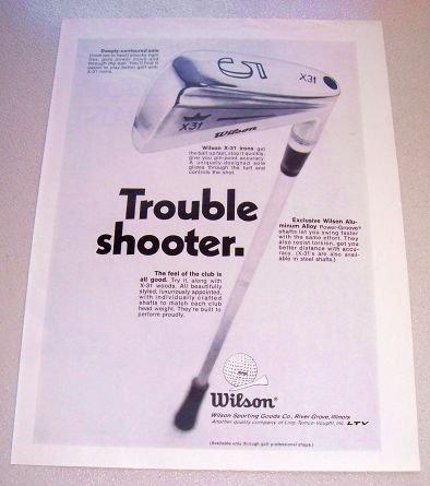1969 Wilson X31 Golf Clubs Irons Print Ad