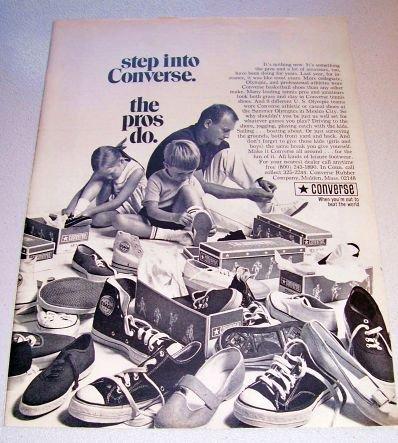 1969 Converse Basketball Shoes Print Ad