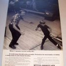 1969 Mutual Benefit Life Insurance Bowling Themed Print Ad