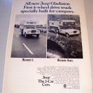 1969 Jeep Gladiator Camper Shell Truck Print Ad