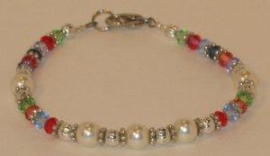 Swarovski Pearl multi-colored bracelet