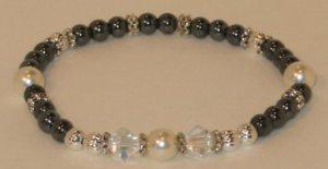 Hematite w/pearls