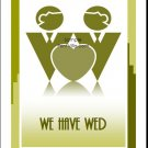 Olive Grooms Gay Wedding Reception Card