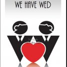 Two Grooms One Heart Gay Wedding Reception Card