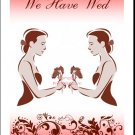 Mocha Class Act Lesbian Wedding Reception Card