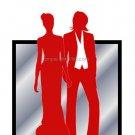 Red Butch-Femme Brides Wedding Invitation 5x7