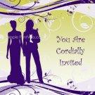 Indigo Butch-Femme Wedding Invitation 5x7