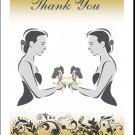 Golden Class Act Lesbian Wedding Thank You Card