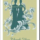 Mist Bride and Bride Lesbian Wedding Thank You Card