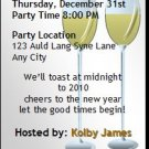 Champagne Bubbly Black New Years Eve Party Ticket