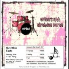 Drummer Girl Candy Bar Wrapper