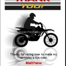 Dirtbike Racer Thank You Cards