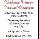 Bride & Groom Wedding Ticket Invitation