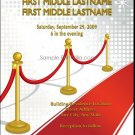 Red Carpet Wedding Invitation 5x7 Flat