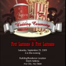 Movie Buff Wedding Invitation 5x7 Flat