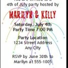 4th of July Hat Party Ticket Invitation