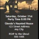 Haunted House Halloween Party Ticket Invitation