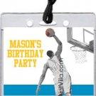 Blue Purple Gold Basketball Dunk All-Star Pass Invitation