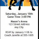 Royal Blue Yellow Basketball Team Ticket Invitation