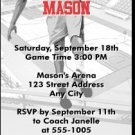 Black Red Basketball Dunk Ticket Invitation
