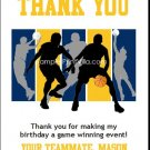 Yellow Navy Basketball Team Thank You Cards