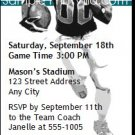 Dolphins Colored Football Party Ticket Invitation