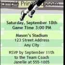Vikings Colored Football Party Ticket Invitation 2