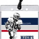 Patriots Colored Football All-Star Pass Invitation