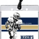 Rams Colored Football All-Star Pass Invitation