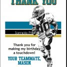 Jaguars Colored Football Thank You Cards