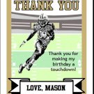 Saints Colored Football Thank You Cards 2