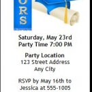 Blue Honors Graduation Party Ticket Invitation
