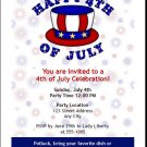 4th of July Hat Party Invitation