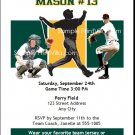 Oakland Athletics Colored Birthday Party Invitation