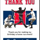 Cleveland Indians Colored Baseball Thank You Cards