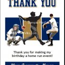 Milwaukee Brewers Colored Baseball Thank You Cards